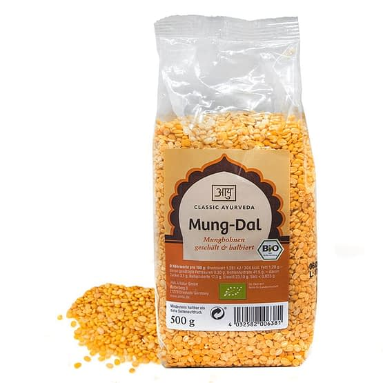 Gele mungbonen - Mung Dal - Bio 500gram